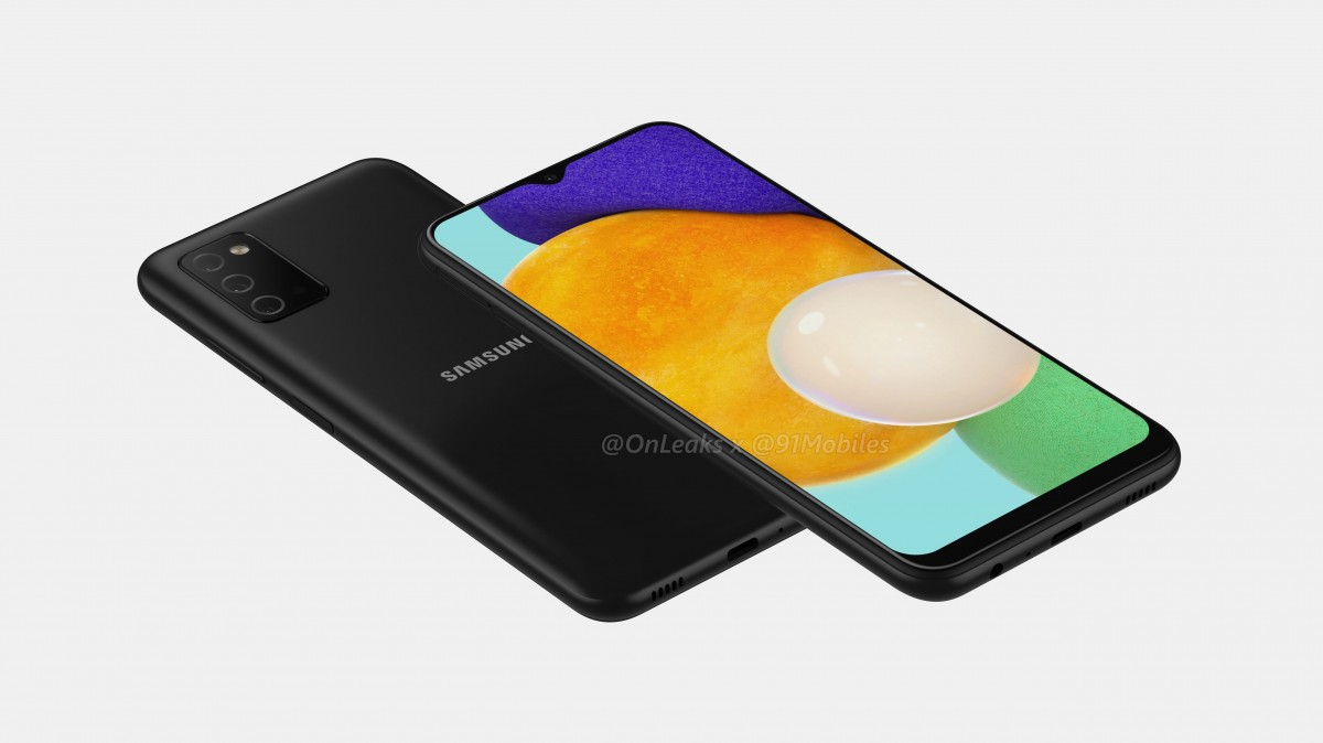 Samsung Galaxy A03s leaked render