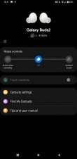 Screenshots from the Galaxy Wearable app showing Galaxy Buds2 details