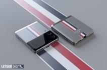 Representaciones especulativas del Samsung Galaxy Z Flip3 edición Thom Browne