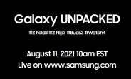 Samsung will unveil the Z Fold3, Z Flip3, Buds2 and Watch4 on August 11