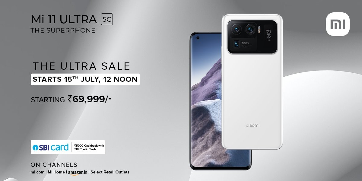 Xiaomi India will start Mi 11 Ultra open sales on July 15, discounts select Redmi Note 10 models