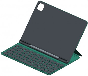Keyboard case with stylus (3D render)