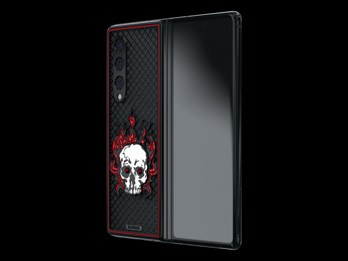Caviar reveals luxury versions of Samsung Galaxy Z Fold3 and Z Flip3, decorated with skulls