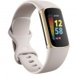 Fitbit Charge 5 in Lunar White/Soft Gold