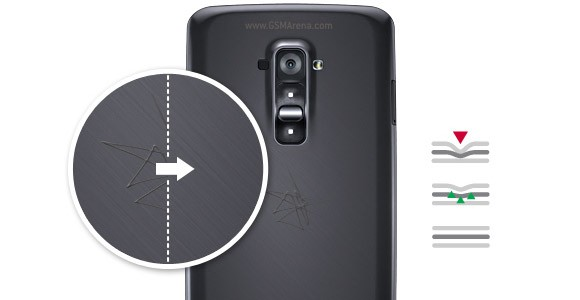 The surface of the LG G Flex could heal shallow scratches, deeper ones left a scar