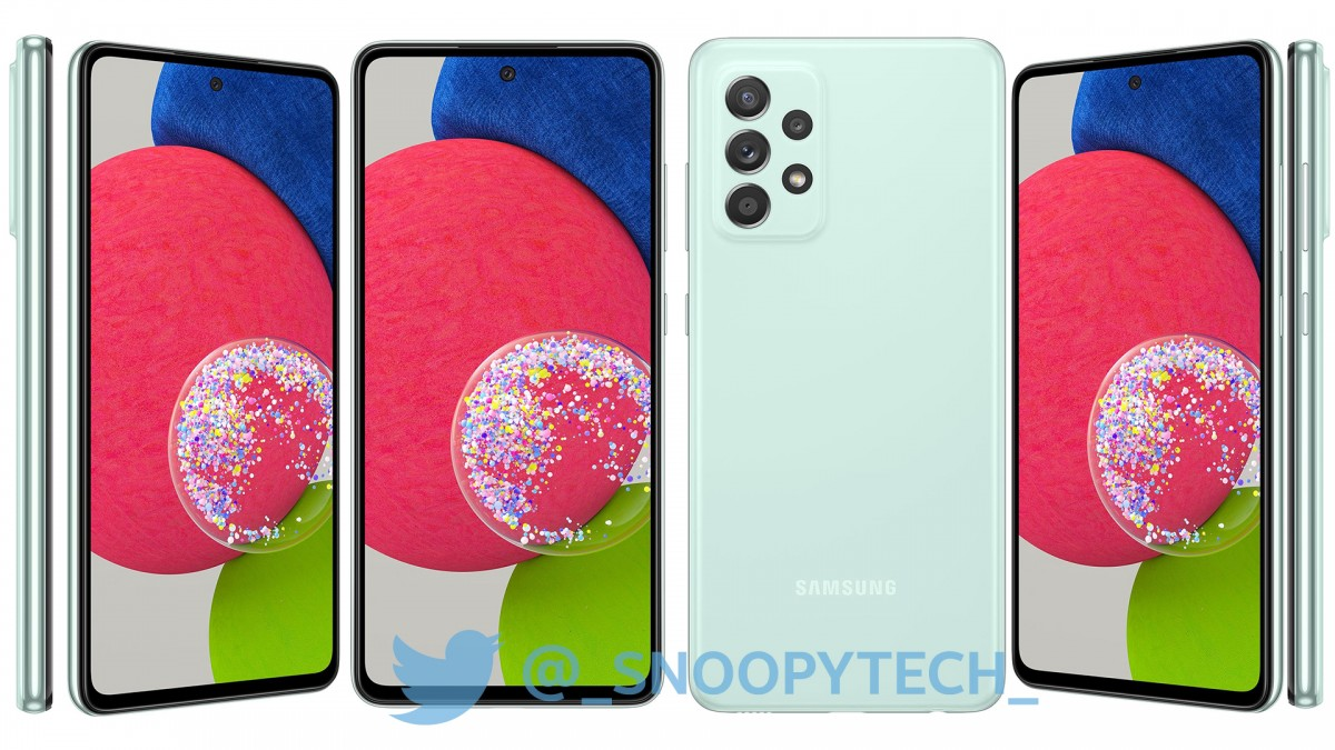 Samsung Galaxy A52s 5G leaked render