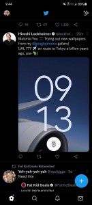 Screenshot (probably) showing the Pixel 6 Pro lockscreen