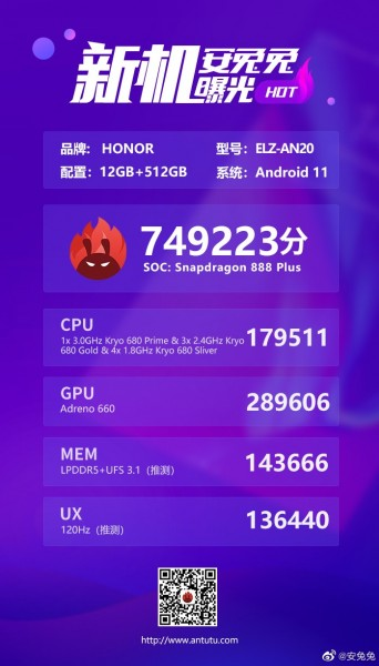 Honor Magic3 appears on AnTuTu with key specs
