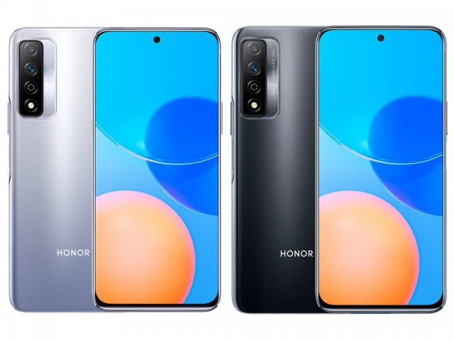 Honor Play 5T Pro in silver and black