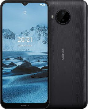 Nokia C20 Plus in blue and grey