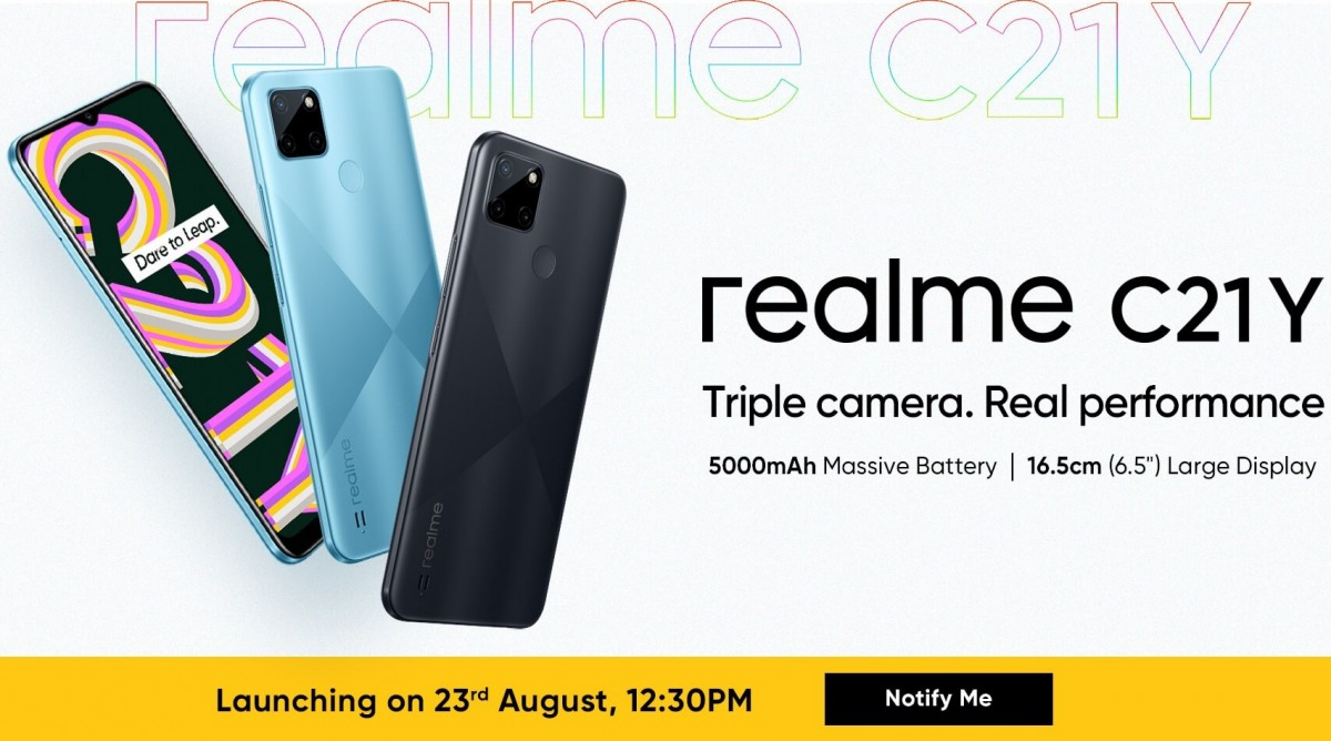 Realme C21Y India launch set for August 23