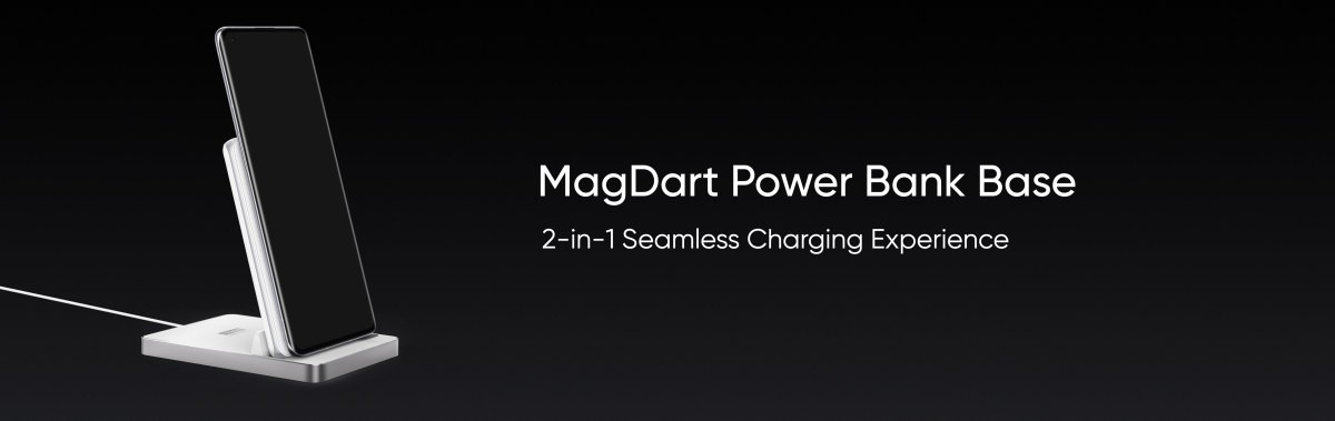 MagDart Power bank that also doubles as a wireless charging stand