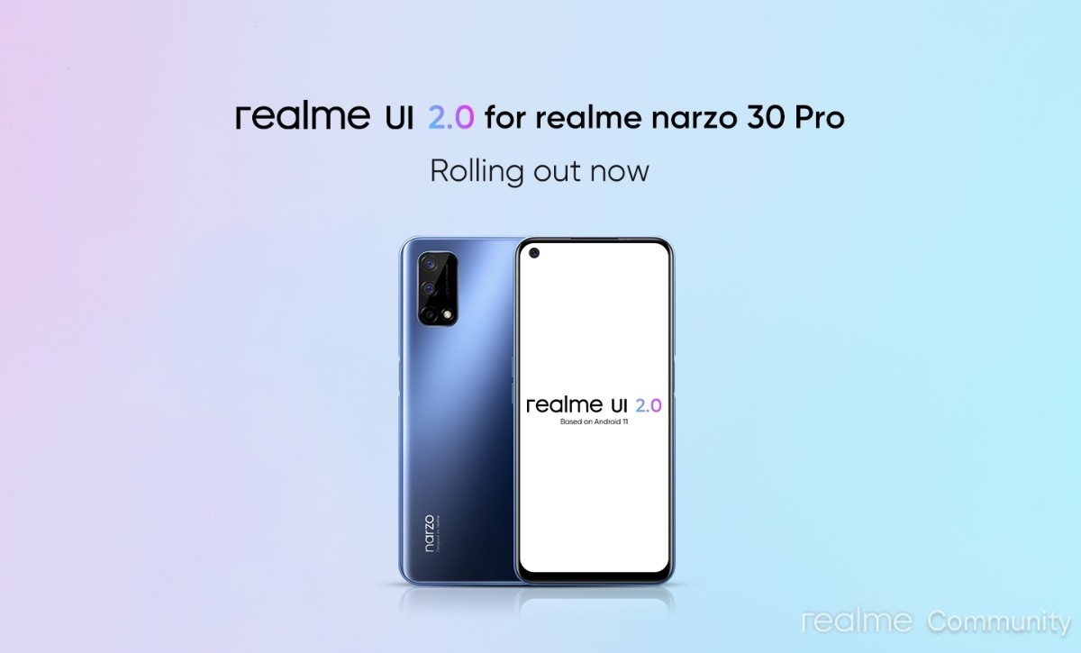 Realme Narzo 30 Pro 5G is getting Android 11-based Realme UI 2.0 update