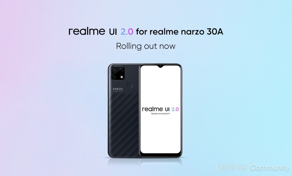 Realme Narzo 30A is receiving Android 11-based Realme UI 2.0 stable update