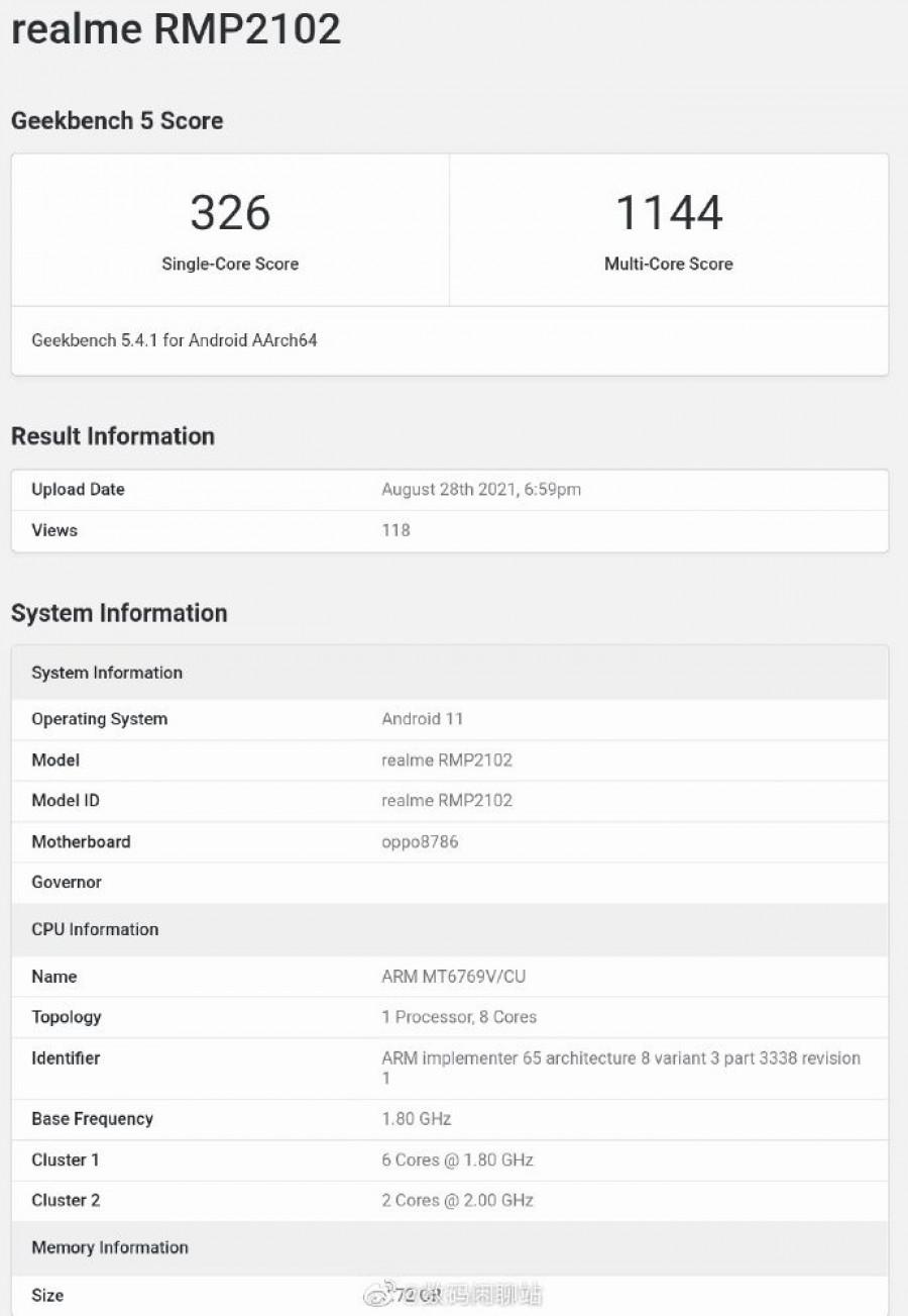 MediaTek Helio G80 confirmed for the Realme Pad