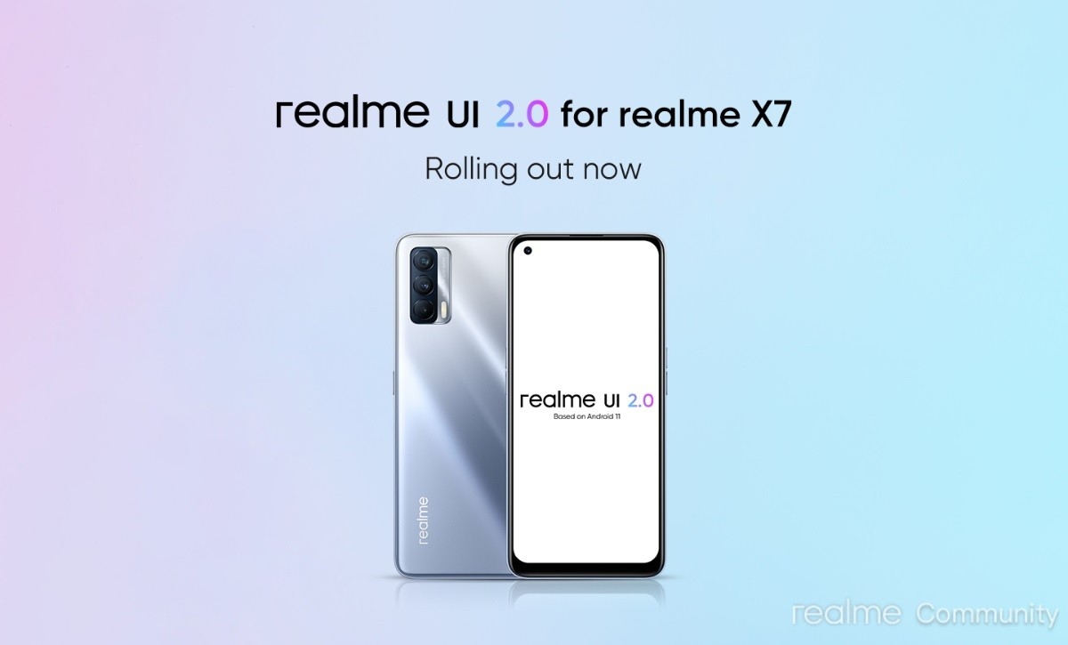 Realme X7 is the latest phone to get Android 11-based Realme UI 2.0 stable update