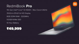 The RedmiBook 15 Pro will be available in India from August 6 for INR 50,000