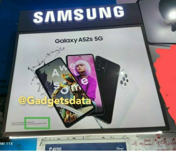A Galaxy A52s 5G poster spotted in India