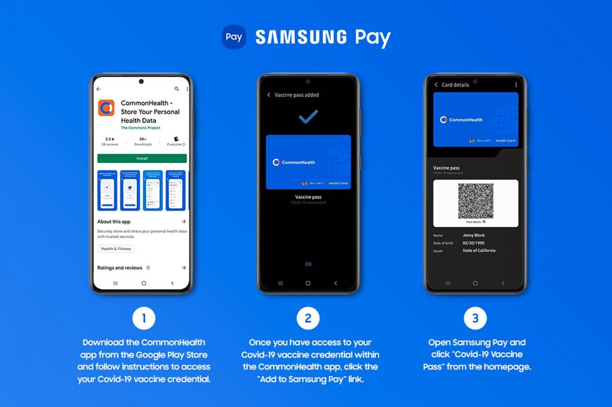 Les propriétaires de Samsung Galaxy aux États-Unis peuvent désormais ajouter leurs informations de vaccination COVID-19 à Samsung Pay