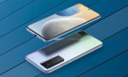 vivo X70 renders show a similar design to the Pro, with three cameras and a flat display