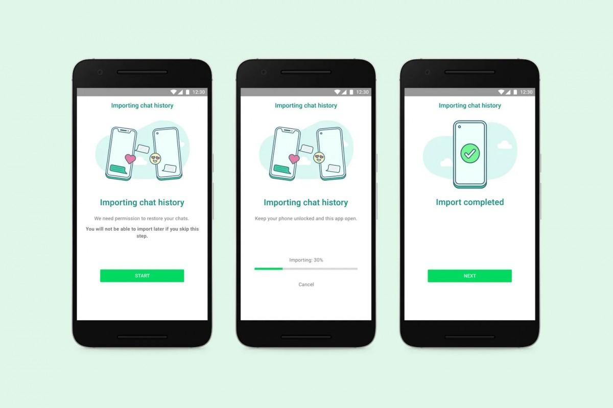 WhatsApp peut enfin transférer les données de chat entre iOS et Android