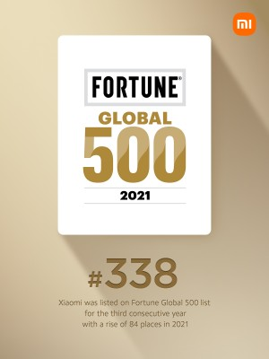 Xiaomi moved up 84 places in Fortune's Global 500 list