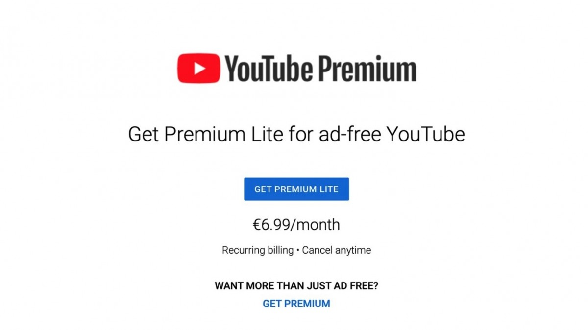 YouTube Premium Lite launched in several European countries