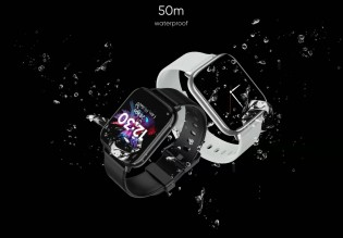 The watch is water resistant up to 50m