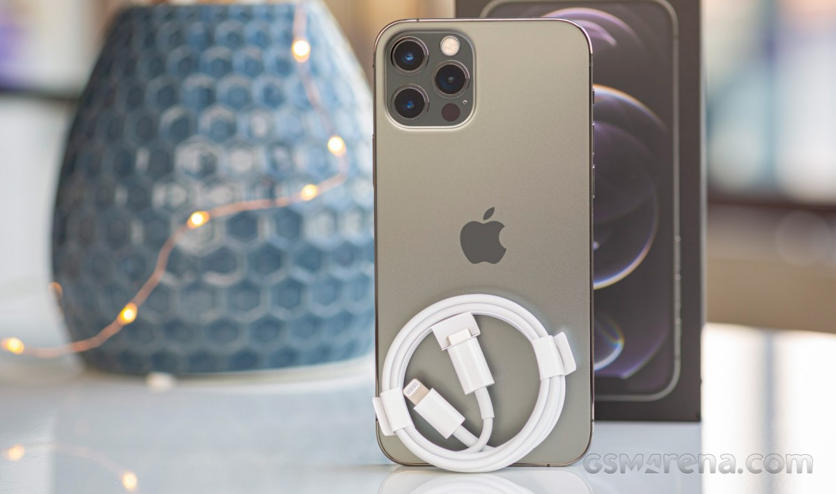 iPhone 12 Pro with included Lightning to USB-C cable