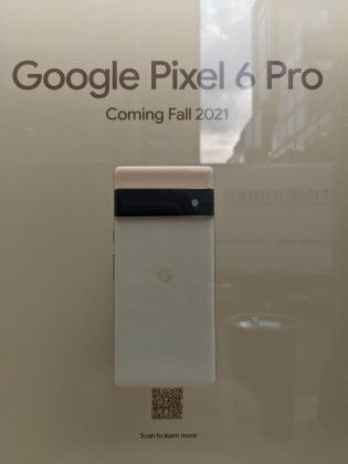 Google Pixel 6 and 6 Pro spotted on display at NYC Google Store