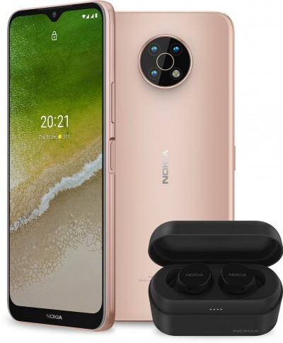 Nokia G50 5G in Midnight Sun (gold) and Blue