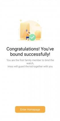 Imoo phone app setup process