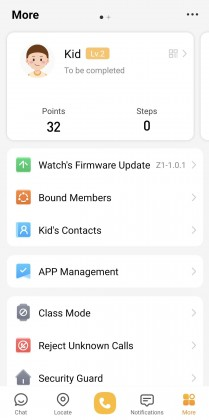 imoo phone app menus