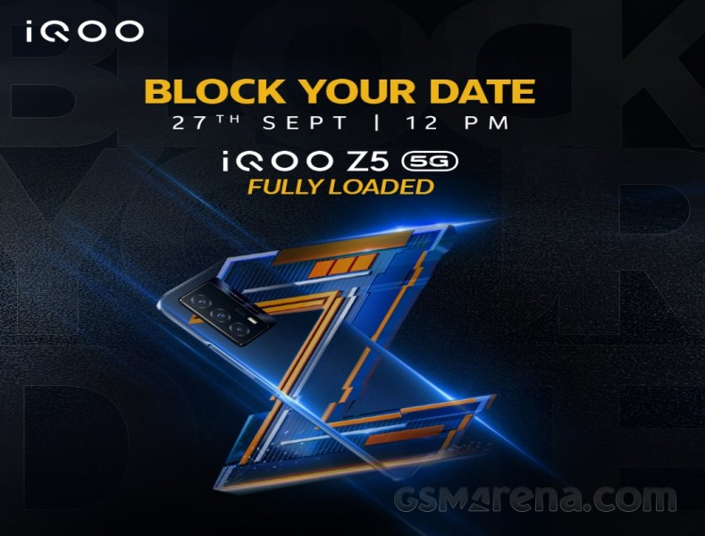 iQOO Z5 India launch set for September 27