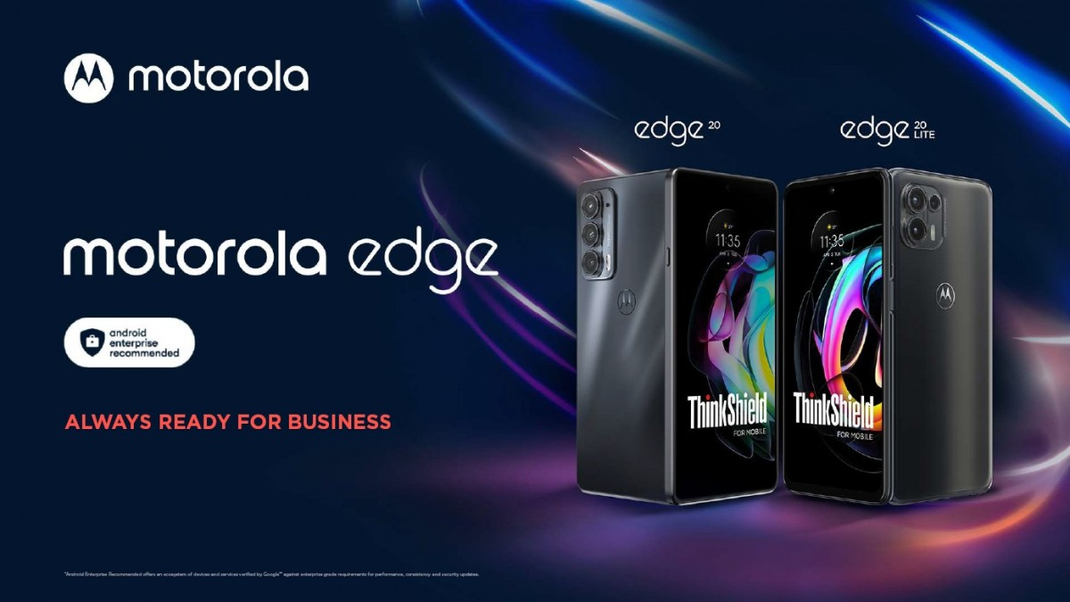 Motorola launches Business Edition versions of the Edge 20 and Edge 20 Lite