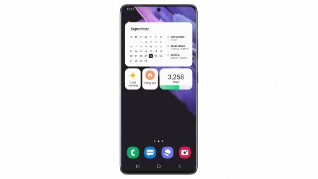One UI 4 homescreen and new widgets (image: Samsung)