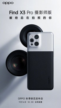 Oppo Find X3 Pro Photographer official posters