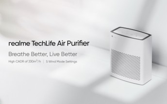 Realme Air Purifier launching next week in India, retail box image reveals filter's price