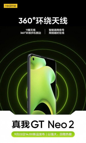 Realme GT Neo2 to boast 11 antennas for better reception