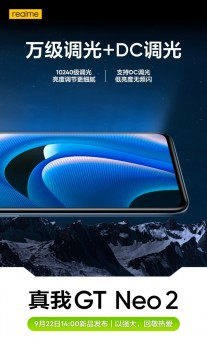 Realme GT Neo2's screen features