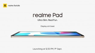 Realme Pad dirancang sekitar 10.4