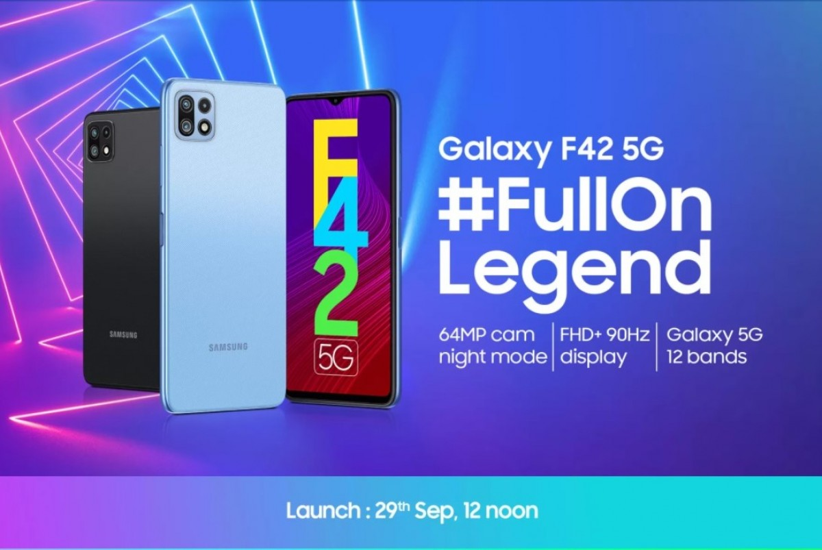 Samsung Galaxy F42 5G confirmed to arrive on September 29, design and key specs revealed