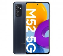 Samsung Galaxy M52 5G in black, white and blue