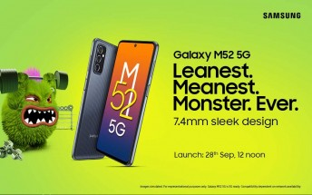 Samsung Galaxy M52 5G launching on September 28 in India