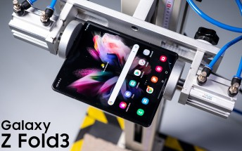 Samsung Galaxy Z Fold3 goes through drop tests both open and closed