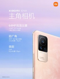 64+8+2 MP camera on the back