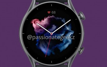 Amazfit GTR 3, GTR 3 Pro and GTS 3 renders, specs and prices surface