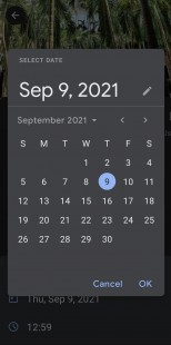 Google Photos Android app's new date and time edit options