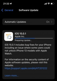 iOS 15.0.1 and iPadOS 15.0.1 now available with fix for Apple Watch unlock bug