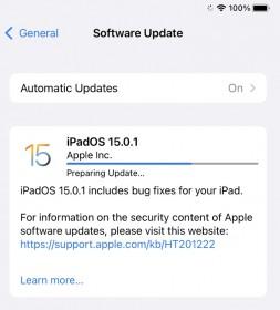 iOS 15.0.1 and iPadOS 15.0.1